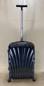 "Samsonite Cosmolite 20"" Black 4-wheeled Carry On Suitcase 60530 Black Label $450"
