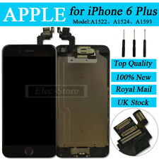 """Black Screen For iPhone 6 5.5"""" Plus Replacement Digitizer LCD Home Button Camera"""