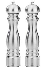 "Peugeot Paris Chef u'Select Stainless Steel 30cm 12"" Salt & Pepper Mill Set Used"