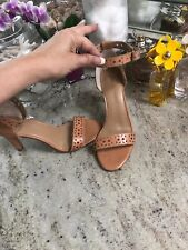 """NEW Banana Republic  Shoes Heel Sandals Cutout Nude Tan Leather 6 3.5"""""""