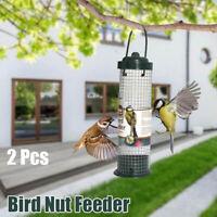 2Pcs Bird Feeder Kunststoff Wild Bird Erdnuss Samen Nuss Feeder Kleiderbügel Neu