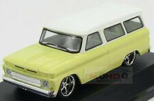Chevrolet Suburban Minibus Custom 1966 Yellow White Greenlight 1:43 GREEN86058 M