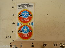 STICKER,DECAL SIMCA RALLYE STICKERS SET OF TWO CAR AUTO