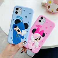 For iPhone 11 Pro Max XS XR 8 7 Plus Cute Cartoon Soft Slicone Rugged Case Cover
