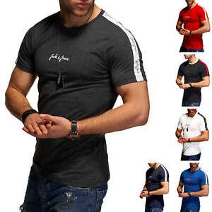 Jack & Jones Herren T-Shirt O-Neck Print Shirt Casual Modern Streetwear Casual %