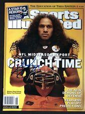 Troy Polamalu Autographed 2005 Sports Illustrated Pittsburgh Steelers HOF JSA