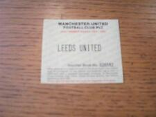 02/04/1995 Ticket: Manchester United v Leeds United [Adult Season Ticket Voucher
