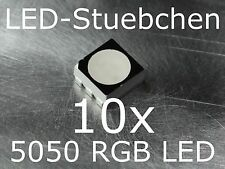 10x 5050 RGB SMD LED SOP 6 BLACK FACE diffused