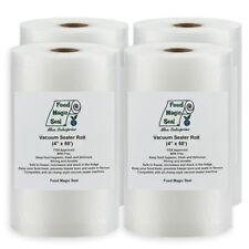 "NEW Four 4""x50' Rolls Food Magic Seal 4 Mil for Vacuum Sealer Food Storage Bags!"