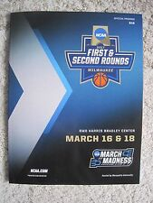 2017 NCAA Basketball Tournament official program Milwaukee 1st 2nd Round college