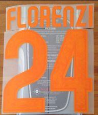 2015-16 Camisa Casa como Roma Florenzi #24 conjunto de número de nombre oficial stilscreen