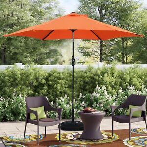 7.5-11ft Patio Umbrella Adjustable Market Outdoor Umbrella Round / Rectangular