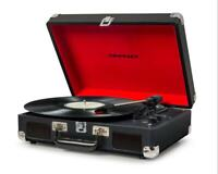 CROSLEY VINYL RECORD PLAYER CRUISER DELUXE with BLUETOOTH BLACK TURNTABLE FAULTY