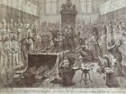 """James Gillray etching """"Consequences of a Successful French Invasion"""" 1798"""