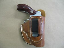 S&W 60, 36, 640, 642, 442 Iwb Leather In The Waistband ConcealCarry Holster Tan