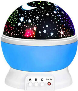 Rotating Starry Sky Projection Night light Moon Star Lamp for Kids Baby Party US