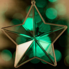 12 x Transparent Christmas Tree Star Decoration Ornament gift Clear Bauble