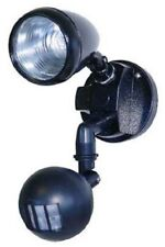 Home & Safety SINGLE HALOGEN SPOTLIGHT WITH SENSOR 40W Wall/Ceiling Mount BLACK