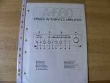 Original Service Schematic for Yamaha A-560 Stereo Integrated Amplifier