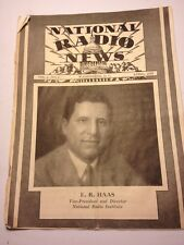 Vtg National Radio News 1932 Emanuel Haas Interference Starting Business City Ny