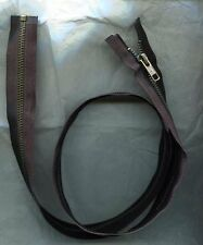 30 inch Black & Antique Brass Metal #5 YKK Zipper Separating New!