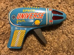 Space Universe Gun Japan Toy Tin Litho Ray Vintage VG Sci Fi
