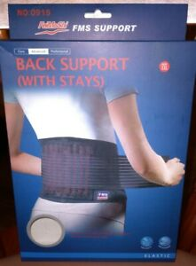 Back Support With Stays For Lower Lumbar Pain Relief Posture Waist Belt Size XXL