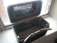 Vintage SAMSONITE Silhouette Gray Makeup Train Case Hard Luggage w/ 3 Keys TRAY