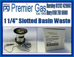 """1 1/4"""" Slotted basin waste brass plug chain & stay metal backnut"""