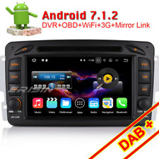 Android 7.1 Autoradio GPS DAB+ DVB-T2 Navi Mercedes C/CLK-Klasse W203 Viano Vito