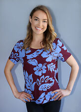 Hale Bob Blue Beaded Blue Floral Top | Short Sleeve XS NWT 4EPP2521