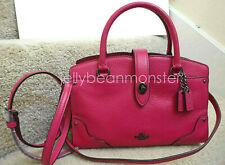 COACH 37779 MERCER SOFT GRAIN LEATHER SATCHEL 24 BAG PURSE Cerise Pink New Tag