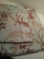 2 POTTERY BARN BED AND BATH FLORAL STANDARD PILLOW SHAM BLUE BROWN PRE-OWNED