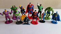 "DC Superhero Figure Cake Topper Bundle x11 Batman Superman 2"""