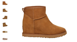 UGG Classic Femme Mini Chestnut Wedge Boot Bootie Women's US sizes 5-12/NEW!!!