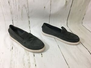 See By Chloe Suede Loafers Shoes Shearling Gray 39 Women's