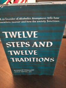 Twelve Steps And Twelve Traditions AA Big Book 1st print 1953  thirteenth 1984
