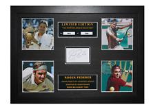 More details for roger federer signed ltd edition framed picture memorabilia