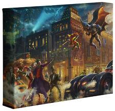 Thomas Kinkade Studios DC Dark Knight Saves Gotham City 8 x 10 Gallery Wrapped
