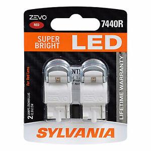 Sylvania Zevo 7440 Red LED Bright Interior Exterior Mini Light Bulb Set, 2 Pack