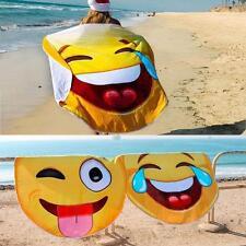 Emoji Washcloth Bath Sunscreen Printing Shawl Scarf Summer Beach Towel Yoga Mat