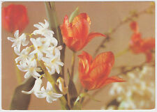 POSTCARD FLOWERS. UNFRANKED DDR 500 YEARS OF POSTAGE COMMEMORATIVE STAMP