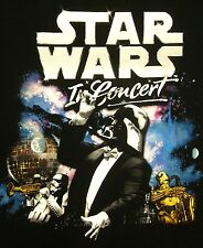 STAR WARS IN CONCERT symphony orchestra T shirt XL tee Royal Philharmonic 2009