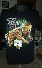 2013 THE WALKING DEAD UNIVERSAL STUDIO'S HALLOWEEN HORROR NIGHTS T SHIRT LARGE