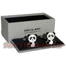 Panda Boutons De Manchette by Onyx Art Ours Femmes Yeux En Strass
