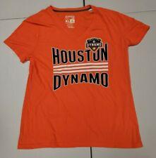 Houston Dynamo MLS Adidas Women's Orange Short Sleeve T-shirt Size X-Large
