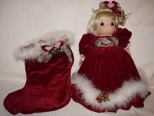 """Precious Moments """"Merry Christmas"""" Limited Edition Stocking Doll"""