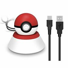 For Pokemon Nintendo Switch Monster Ball Plus Charging Charger Stand Dock +Cable