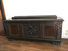 antike Englische Anrichte Löwenfüße Neorennaissance Stil Sideboard Esszimmer