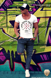 Men's White T-shirt Fitted Casual Graphic Tee Trending Summer Street Wear 871
